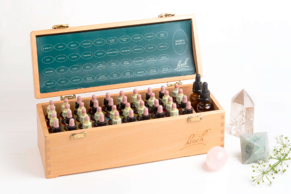 complete Bach Remedies set with crystals